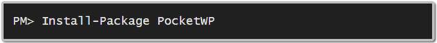 PocketWPNuget